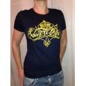 """T-Shirt """"Vive le Roi"""" calligraphie femme"""