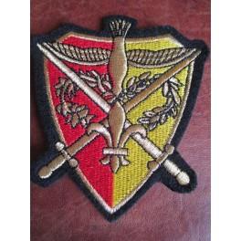 Ecusson Camelot rouge/jaune