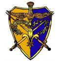 Autocollant Camelot jaune/bleu