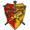 Autocollant Camelot rouge/jaune