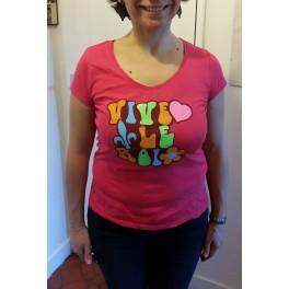 """T-Shirt """"Vive le Roi"""" beatnik femme"""