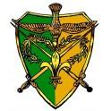 Autocollant Camelot vert/jaune