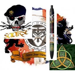 "Stylo ""Souvenir"" Saorse (liberté)Ecusson GAR, ""Tiocfaidh àr là""(Notre Jour Viendra)"