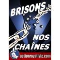 """50 autocollants  """"Brisons nos chaînes"""" nouveaux"""