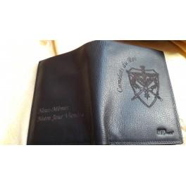 portefeuille cuir noir MP num7
