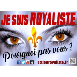 """Lot de 25 affiches """"Je suis royaliste"""" horizontales"""