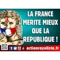 """50 autocollants  """"La France mérite mieux que la république"""" :"""