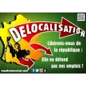 """50 autocollants  """"délocalisations"""" :"""