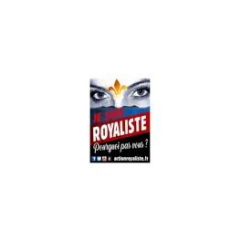 """50 Autocollants """"Je suis royaliste, pourquoi pas vous"""""""