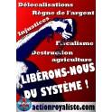 """50 Autocollants """"Libérons nous du système"""""""
