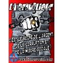 """Lot de 25 affiches """"république et misère sociale"""""""