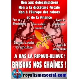 """Lot de 25 affiches """"Brisons nos chaînes"""""""