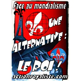 "Lot de 25 affiches ""Face au mondialisme"""